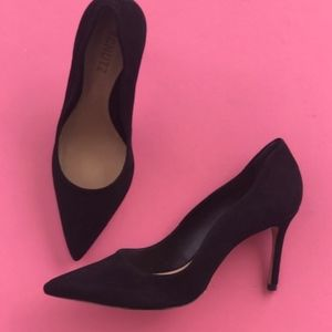 Schutz Analira black suede heels new in box